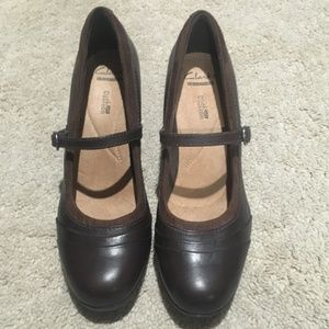 Clarks Collection Cushion Soft Mary Jane Sz 9M